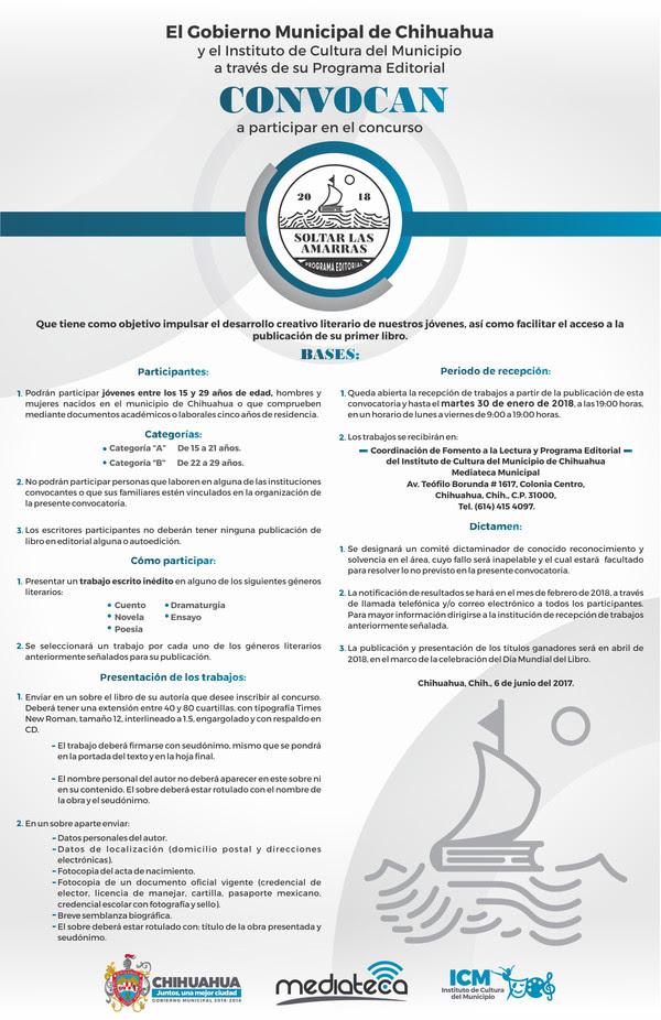 Extiende Icm Periodo De Recepcion De Trabajos Del Concurso Soltar